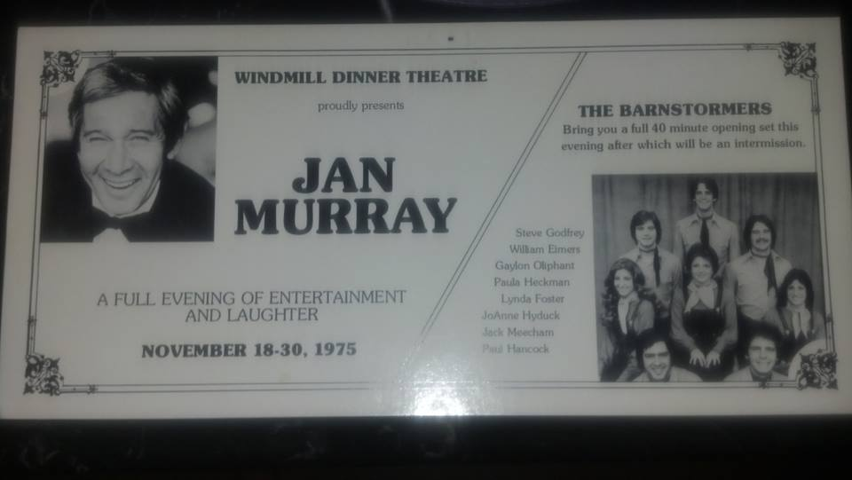 Windmill Dinner Theatre, Table Mats, 1975, Jan Murray