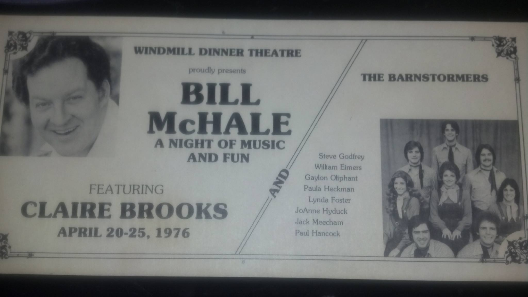 Windmill Dinner Theatre, Table Mats, 1976, Bill McHale