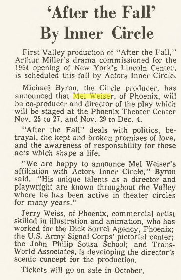 actors inner circle 1966 Nov. After the Fall 001