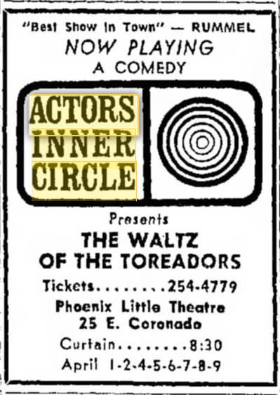 actors inner circle 1967 april waltz of the toreodors 001