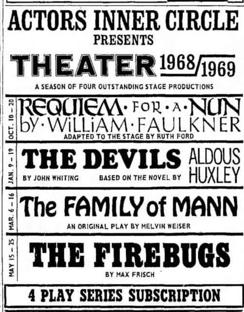 actors inner circle 1968-69 season