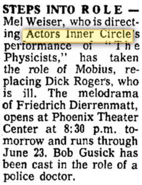 actors inner circle 1968 june the physcisits