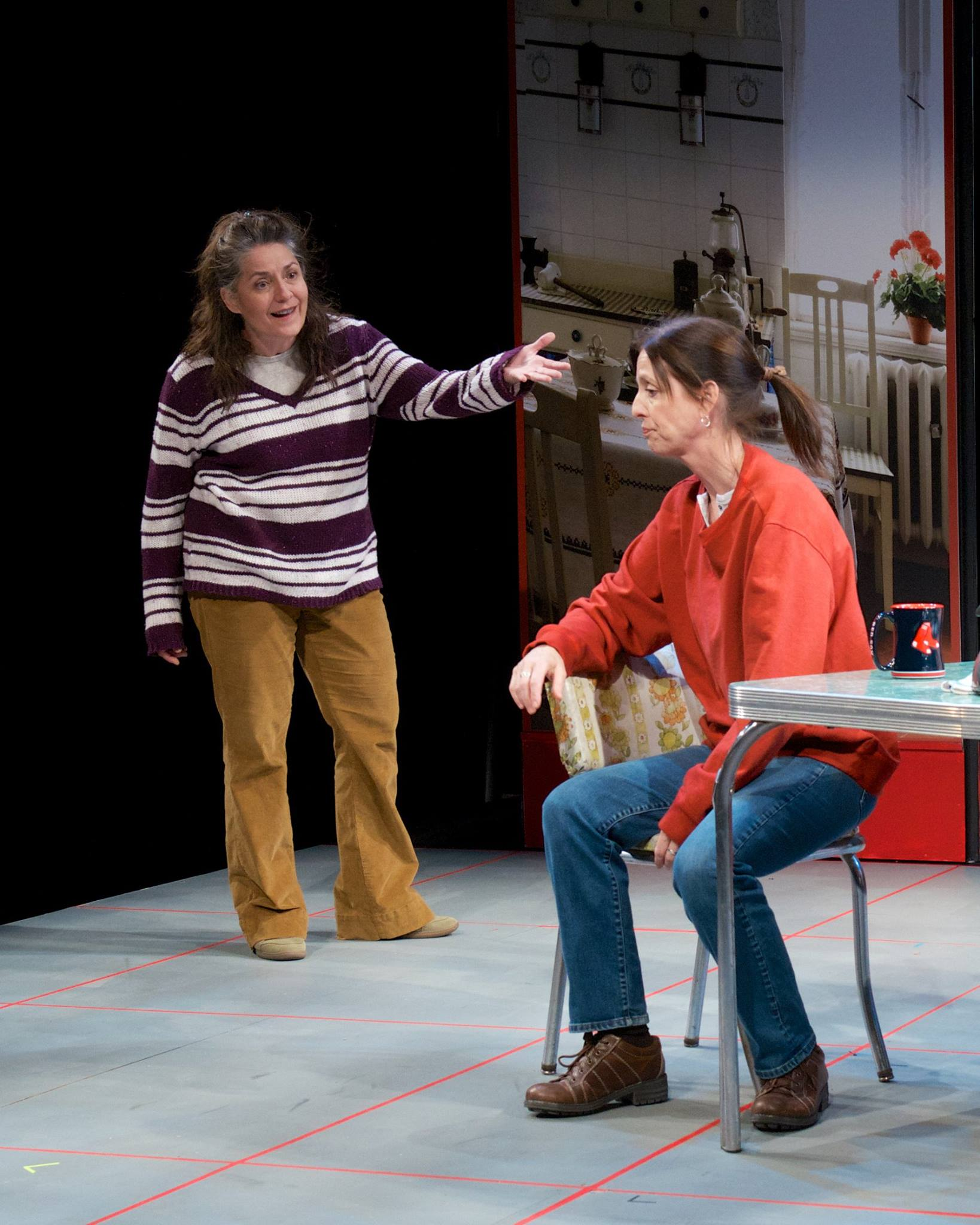 """Maria Amorocho and Katie McFadzen in """"Good People"""" at Actors Theatre May 2014. (Photo by John Groseclose)"""