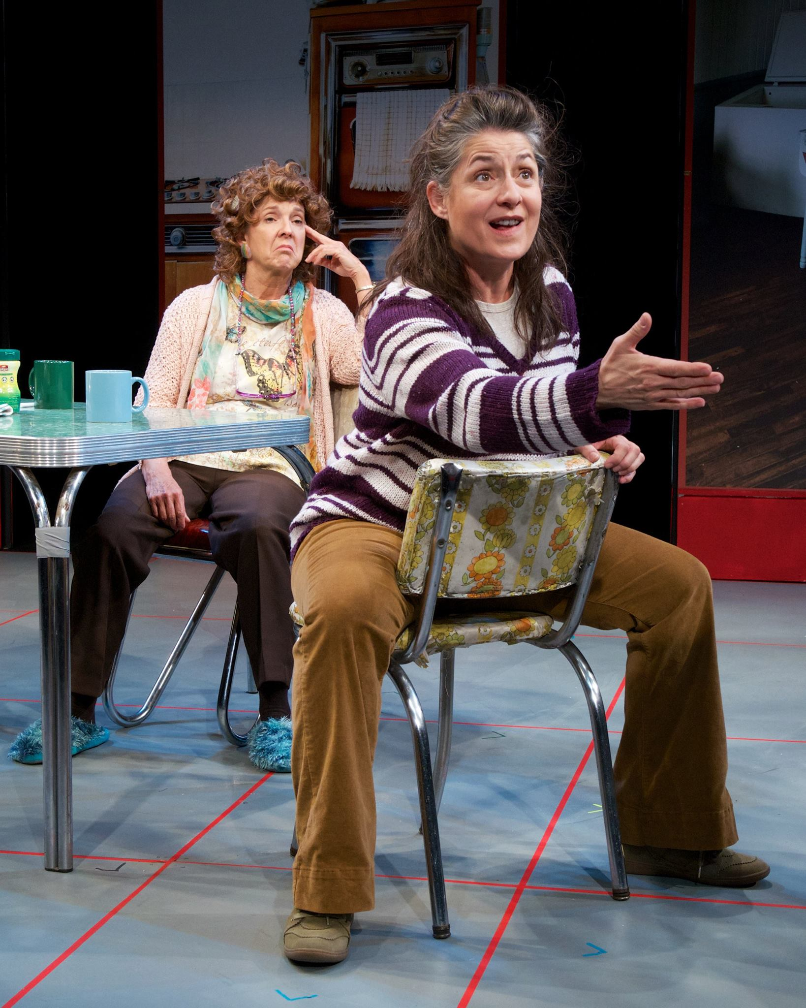 """Cathy Dresbach and Maria Amorocho in """"Good People"""" at Actors Theatre of Phoenix, May 2014 (Photo by John Groseclose)"""