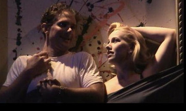 """Jason Barth was Adam and Andi Watson was Evelyn in Nearly Naked Theatre's production of """"The Shape of Things."""""""