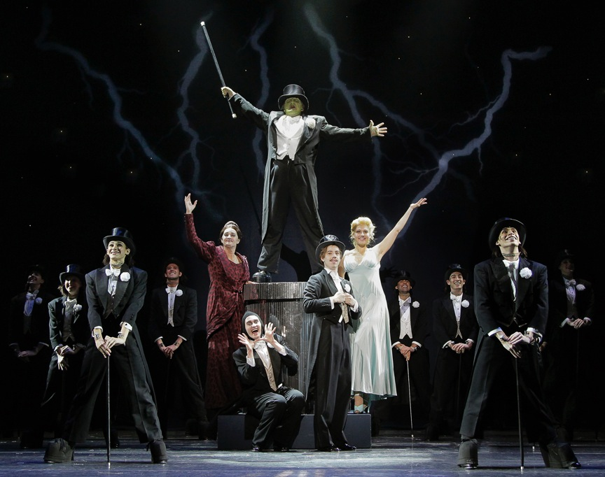 """The cast of """"Young Frankenstein"""" at Arizona Broadway Theatre. (Photo by Mike Benedetto)"""