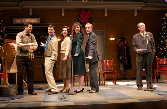 """The cast of Arizona Theatre Company's 2008 production of """"It's A Wonderful Life: A Live Radio Play"""" featured Paul Gibson, Kyle Sorrell, Maren Maclean, Kerry McCue and Bob Sorenson. (Photo by CJ Mascarelli)"""