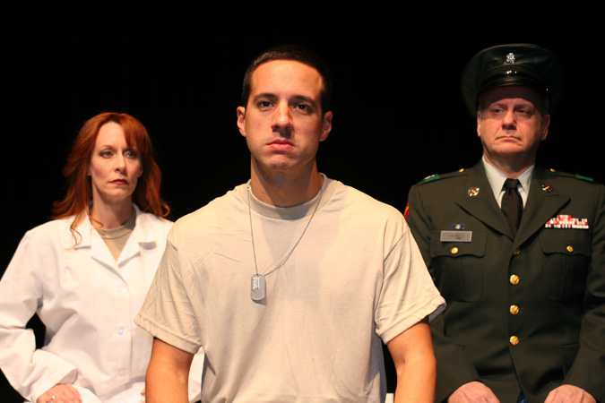"Stacie Stocker, Phillip Herrington and Bruce Laks in ""Nine Circles,"" iTheatre Collaborative, 2012 (Photo from the collection of Bruce Laks)"