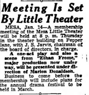 mesa encore theatre feb 15, 1940