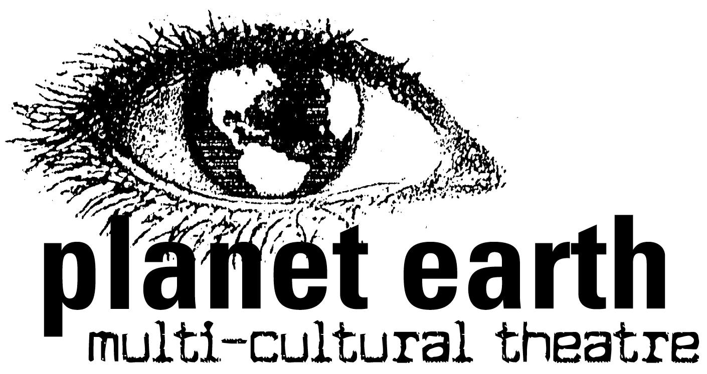 Planet Earth's logo was designed by Mollie Kellogg, collaging elements printed from her dot matrix printer and running it though the fax machine to create a half tone texture.