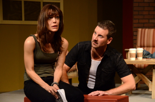 "Lesley Ariel Tutnick and Dominik Rebilas in ""Proof"" at Theatre Artists Studio, 2012. (Photo by Mark Gluckman)"