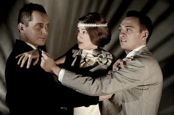 """Ian Christiansen, Bre Jarvis and Marshall Glass in """"Two Gentlemen of Verona"""" at Southwest Shakespeare Company, 2012."""