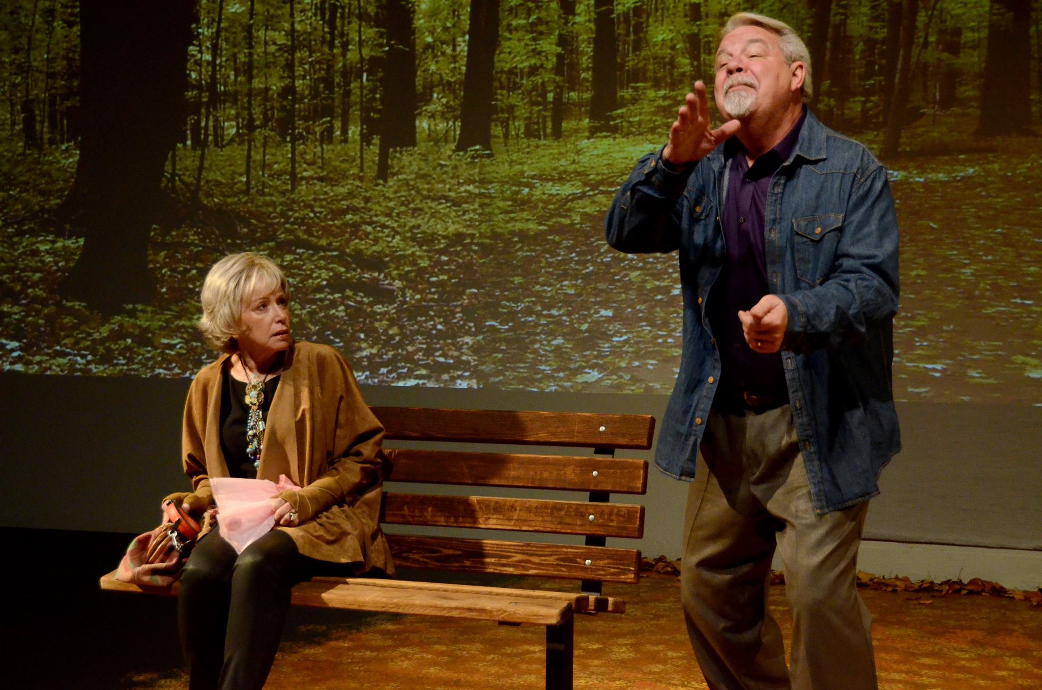 """Judy Lebeau and Michael Fleck in """"The Last Romance"""" at Theatre Artists Studio, 2014. (Photo by Mark Gluckman)"""