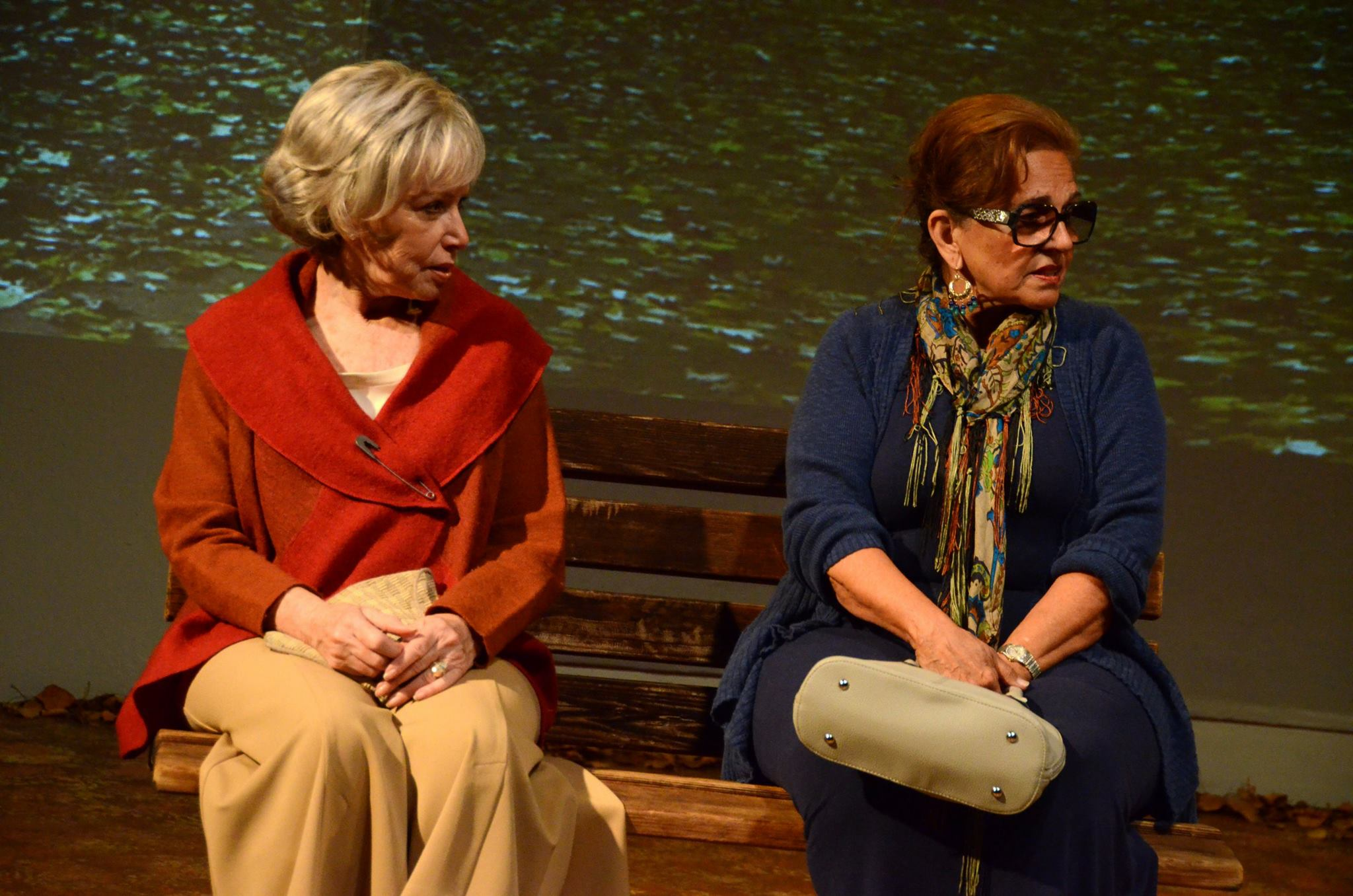 """Judy Lebeau and Delores D'Amore Goldsmith in """"The Last Romance"""" at Theatre Artists Studio, 2014. (Photo by Mark Gluckman)"""