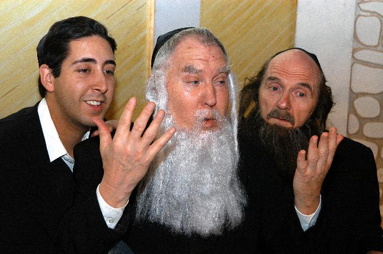 "Dijen Cain, Benjamin Stewart and Mike Lawler in ""36"" (2005) at Arizona Jewish Theatre Company. (Photo courtesy of Janet Arnold)"