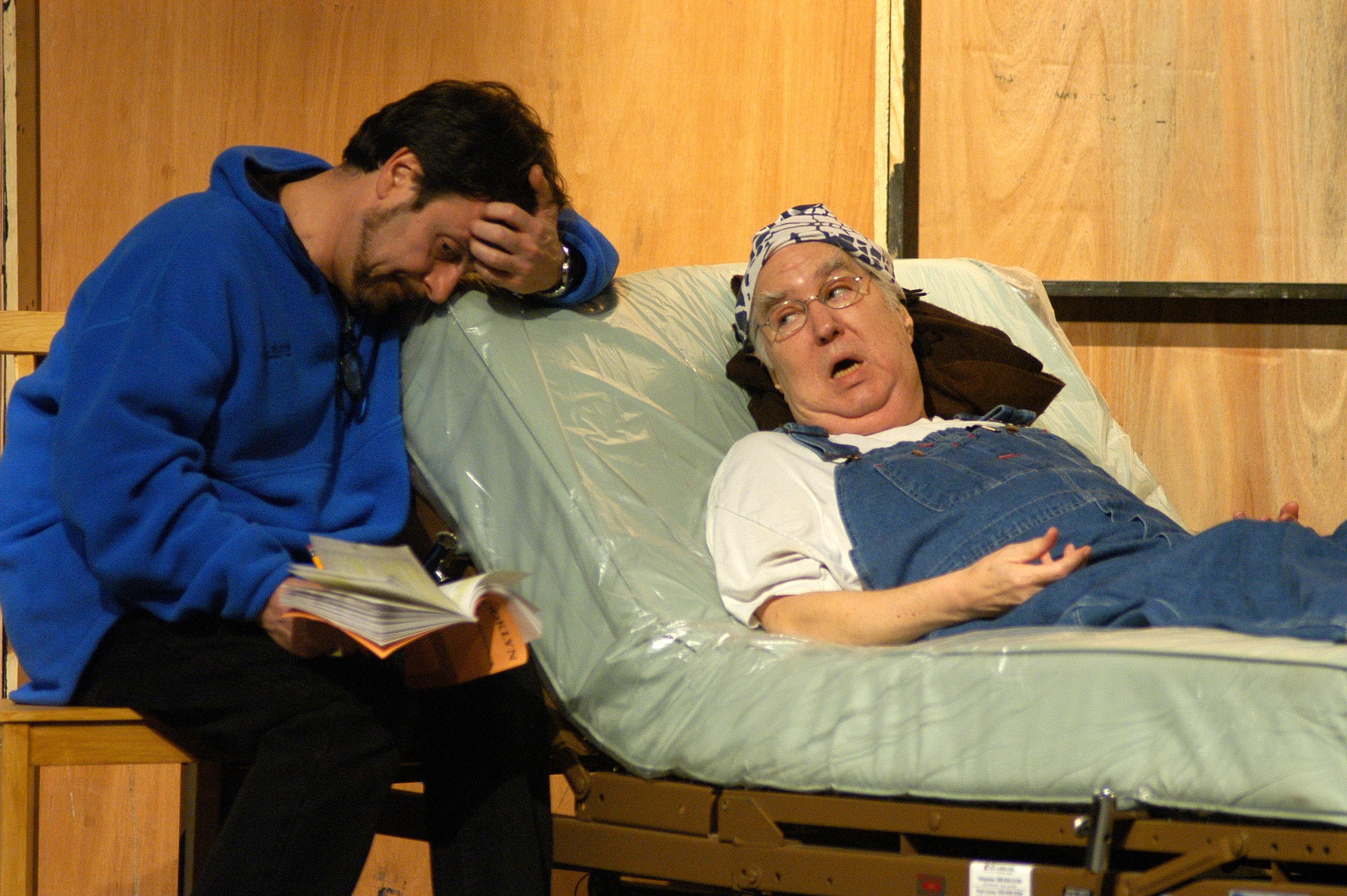 "Nicolas Glaeser and Benjamin Stewart in ""Brooklyn Boy"" at Arizona Jewish Theatre Company. (Photo credit unknown)"
