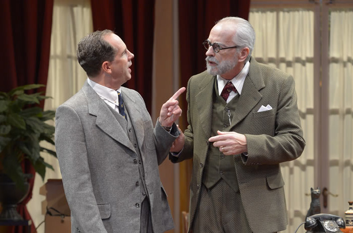 Arizona Theatre Company, 2012-2013 Season, 'Freud's Last Session,' Ben Everett, Michael J. Flynn; photo by Tim Fuller,