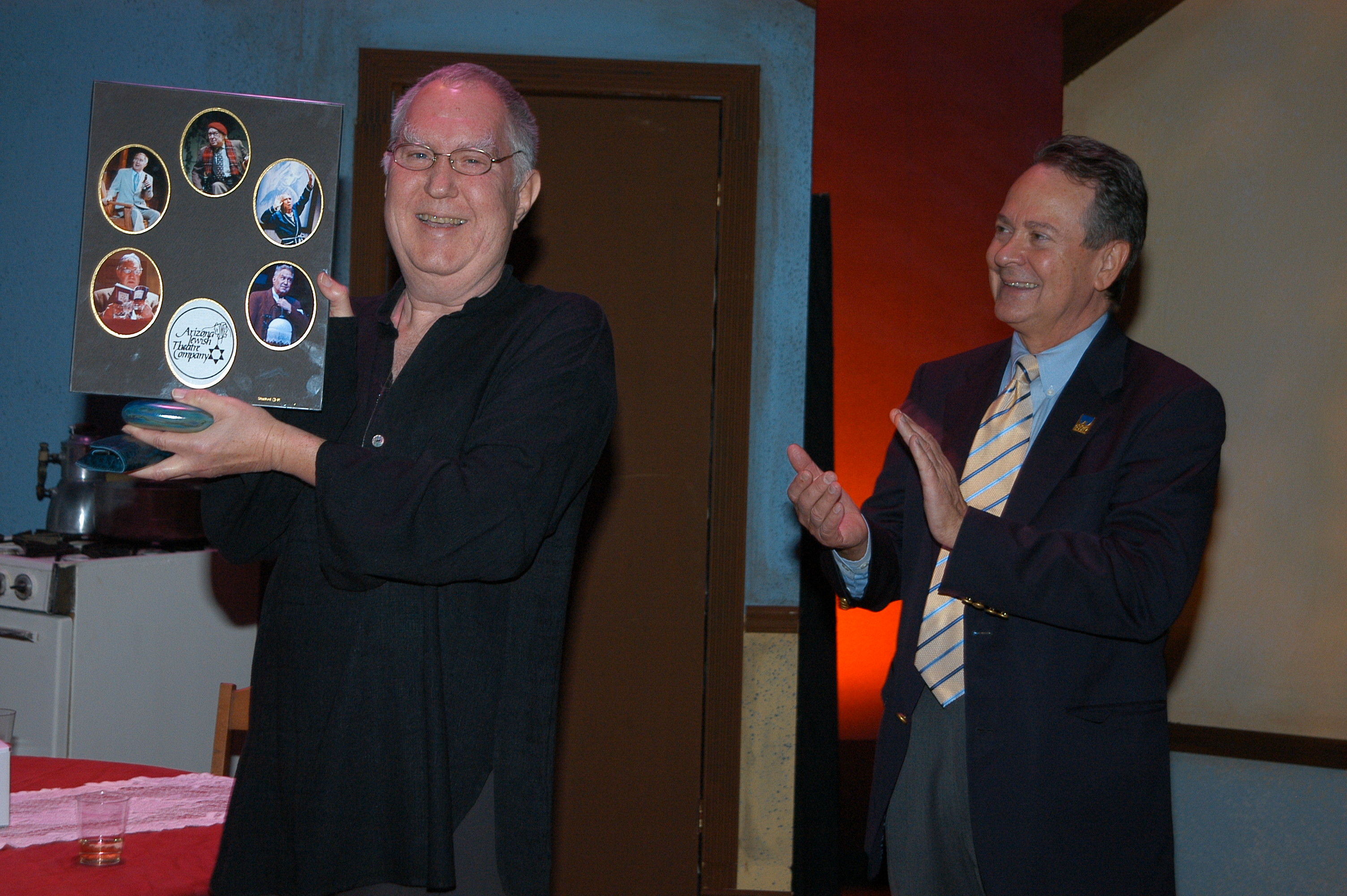 Benjamin receives the Lifetime Achievement Award from Actors Equity Association. (Photo courtesy of Janet Arnold)