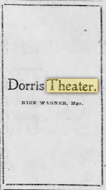 Dorris Theater 1901