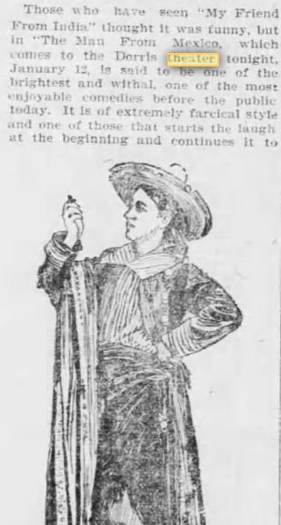 Dorris Theater Jan. 12, 1903