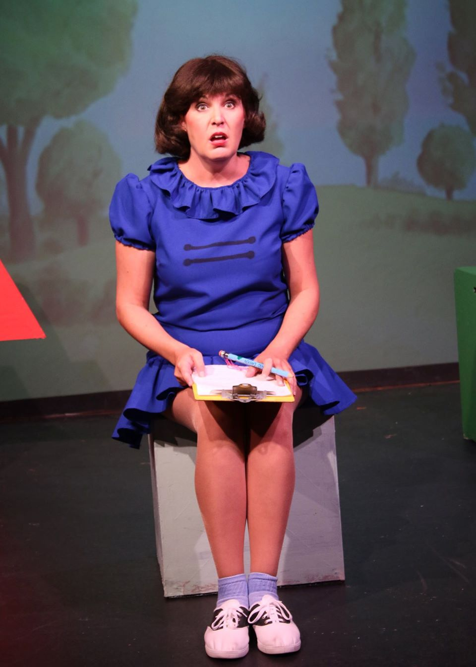 "Kathleen Berger as Lucy in ""You're A Good Man Charlie Brown"" at Fountain Hills Theater, June-July 2014. (Photo credit unknown)"