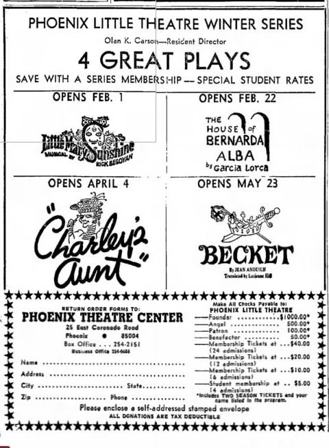 Phoenix Theatre 1967