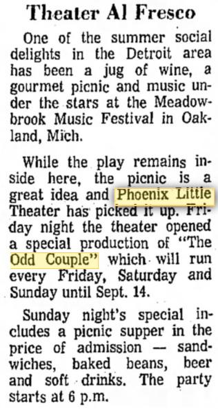 Phoenix Theatre, 1968, The Odd Couple 002