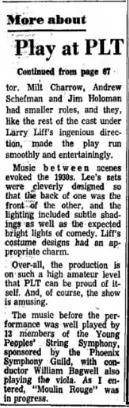 Phoenix Theatre, 1969, Enter Laughing, October 002