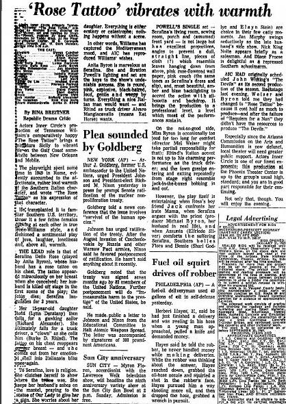Bina Breitner, Jan. 10, 1969, Arizona Republic.