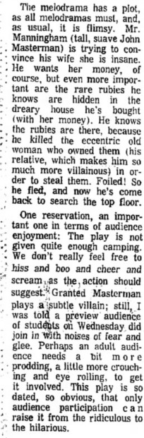 Phoenix Theatre, 1970, Gaslight B
