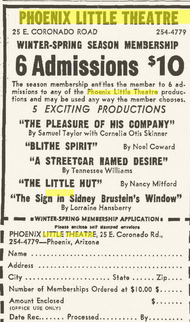 Phoenix Theatre January 19, 1967