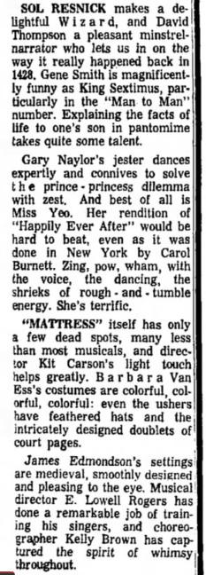 Phoenix Theatre Once Upon A Mattress 1967 Nov - 4