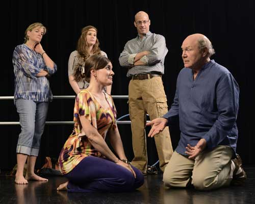 """Circle Mirror Transformation"" is about the games actors play during rehearsals. (Photo by John Groseclose)."