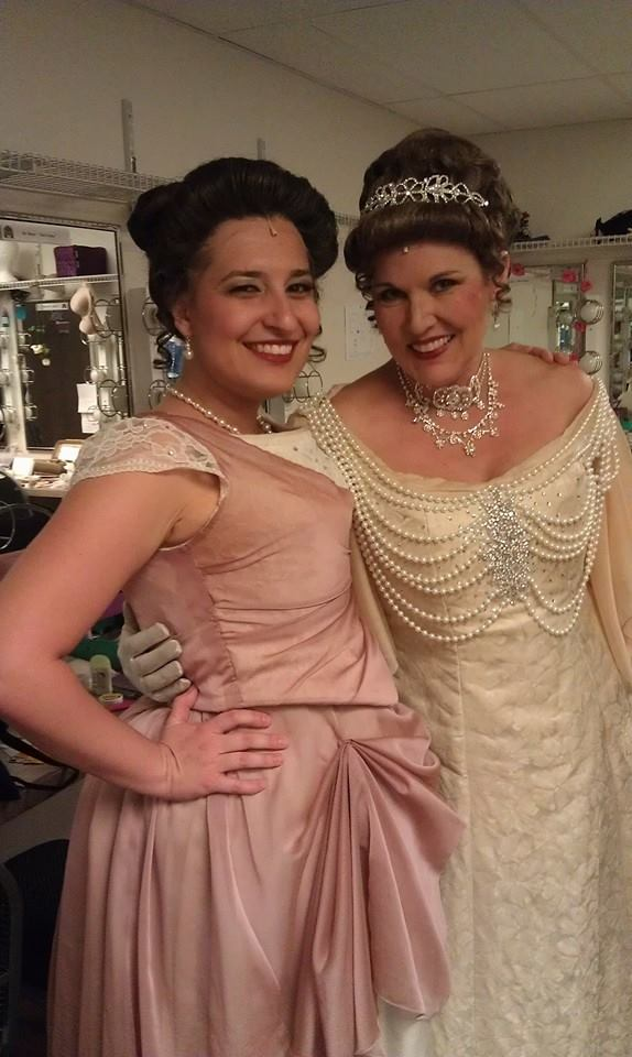 """Marie Annette and Kathleen Berger backstage at Arizona Broadway Theatre's 2014 production of """"The Secret Garden."""" (Photo credit unknown)"""
