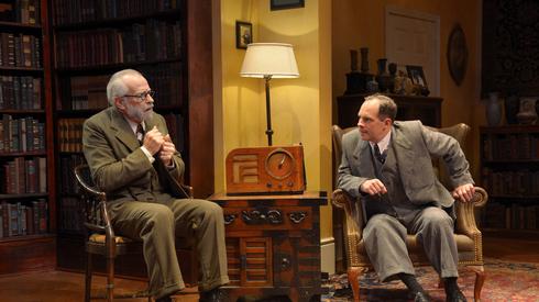 J. Michael Flynn, Ben Everett; photo by Tim Fuller.