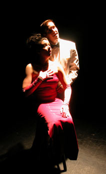 "Natalie Charle Ellis and Nick Cartell in ""My Way"" at Phoenix Theatre. (Photo by Laura Durant)"