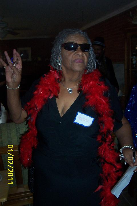 Joyce Gittoes at her 75th birthday party. (Photo by Gerry Hitt)