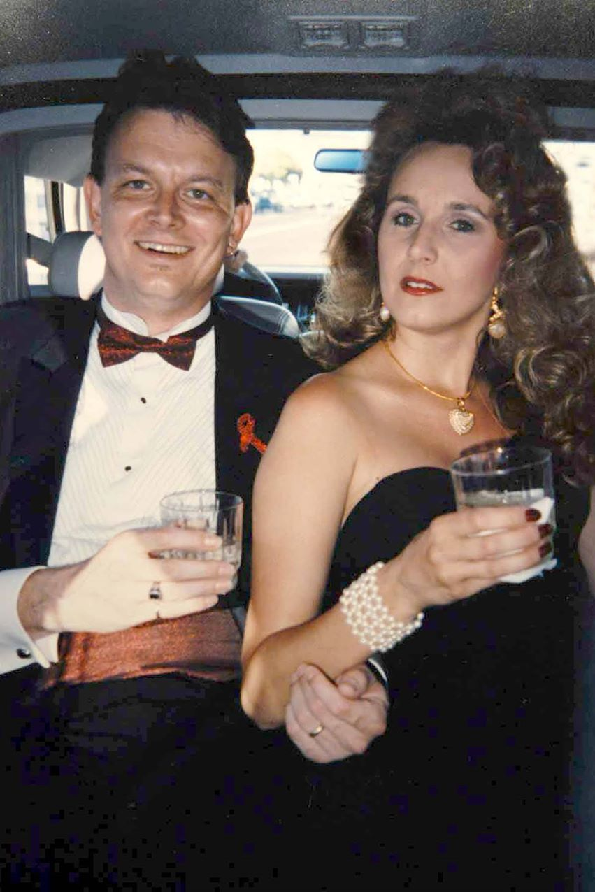 Doug Durant and his wife, actress-public relations director Laura Durant.