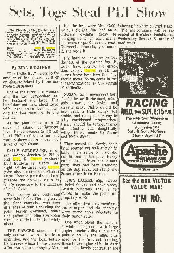 Arizona Republic, April 14, 1967