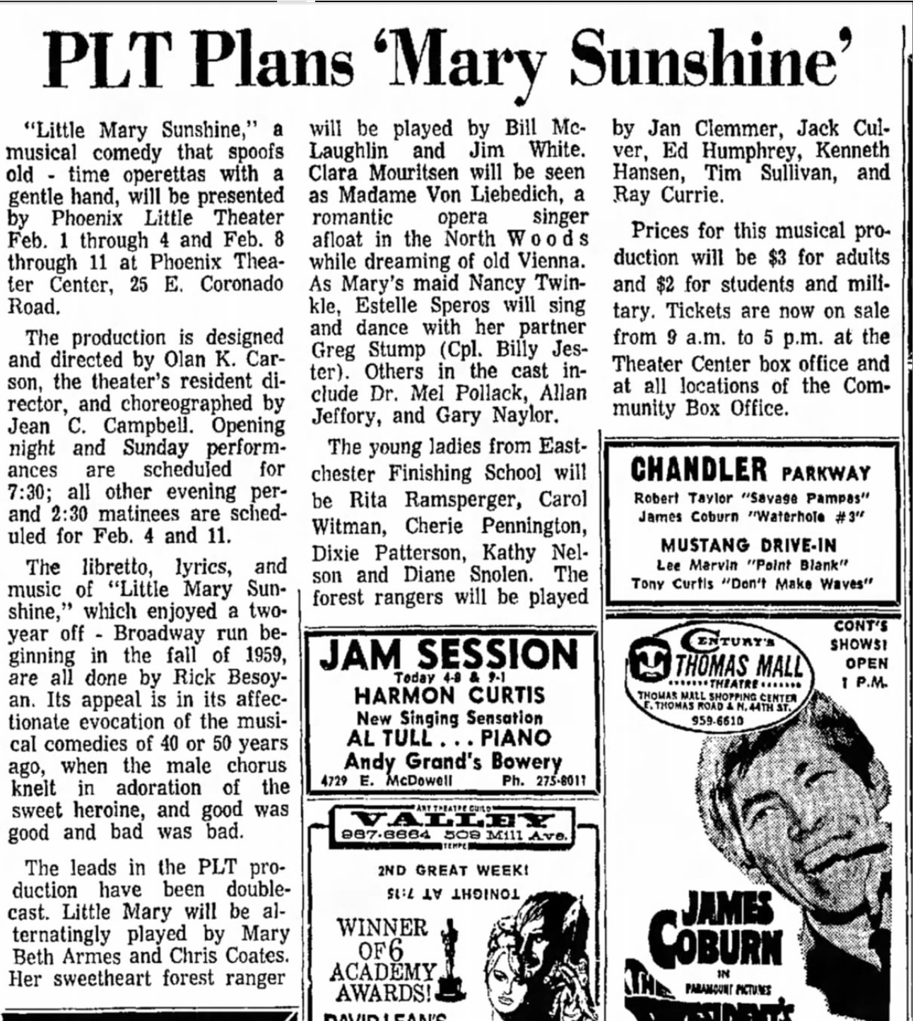Arizona Republic, Jan. 28, 1968