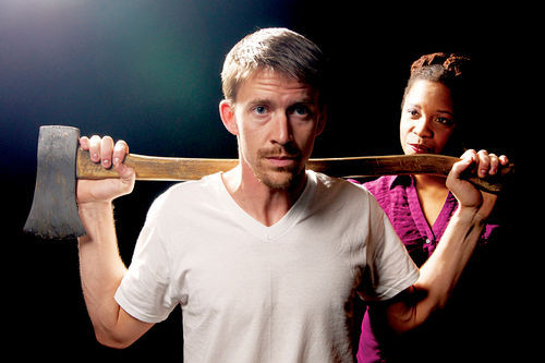 "Tyler Eglen and Yolanda London in Stray Cat Theatre's 2012 production of ""Wolves."" (Photo Credit Unknown)"