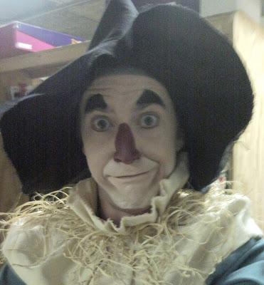 "Tyler Eglen as the Scarecrow in ""Dorothy Returns,"" 2010, Children's Museum of Indianapolis."