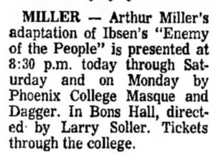 phoenix college 1969 april
