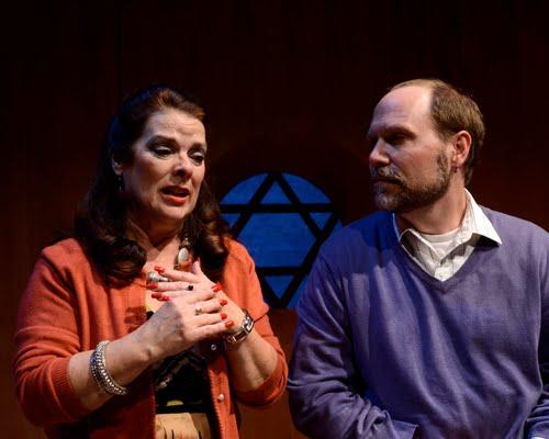 Debra K. Stevens as Arlene and Robert Kolby Harper as Adam in 'Next Fall' at Actors Theatre, 2011. (Photo by John Groseclose)