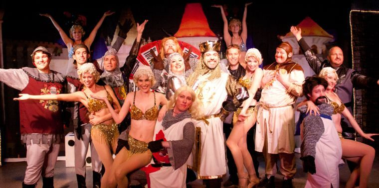 """Fountain Hills Theatre. """"Spamalot."""" 2013, revived 2014. Terry Gadaire as King Arthur. (Photo credit unknown)"""