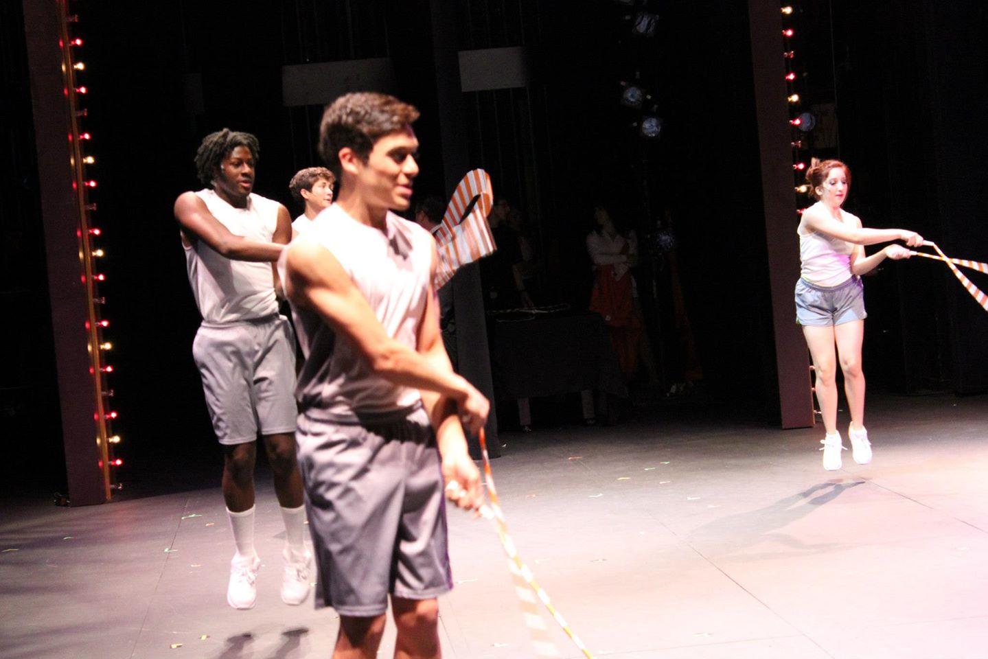 'Legally Blonde The Musical.' Cameron A. Jones, Josh Hedeby, Nick Fernandez, Carly Grossman. (Photo by Cody Cunningham)