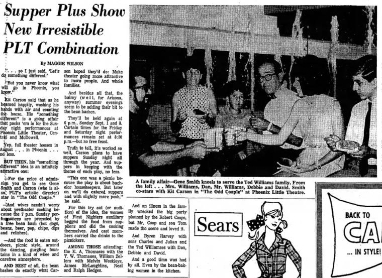 Phoenix Theatre, August, 1969, The Odd Couple