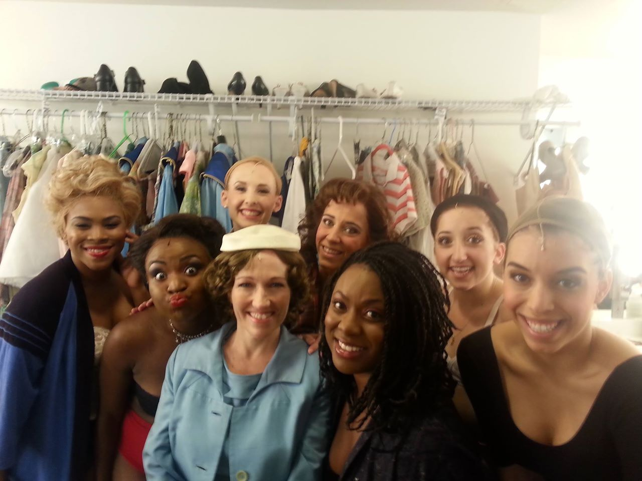 "The women of ""Memphis"" backstage. (Photo from Lynzee Paul Foreman's Facebook page)"