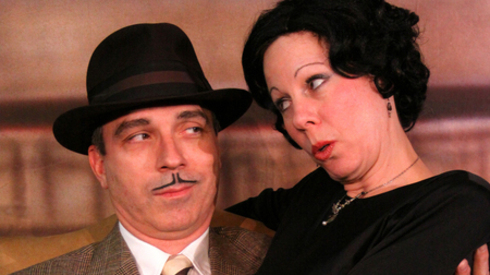 Deborah Ostreicher. Terry Gadaire and Deborah Ostreicher star in the Fountain Hills Theater's production of 'The 39 Steps.' 2013. Photo by Patti Torrilhon.