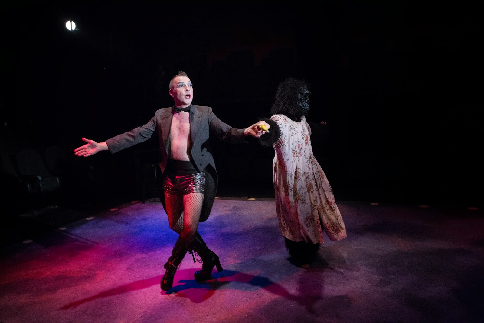 Terry Gadaire. Marna McLendon. Cabaret. 2014. Desert Stages Theatre. Photo by Heather Butcher.